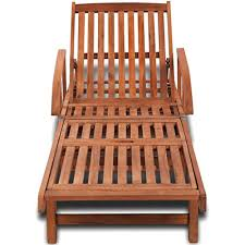 Festnight Folding Hardwood Patio Chair <b>Sun lounger Solid</b> Acacia ...