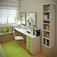 decorative interior design ideas for modern small boy bedroom featuring minimalist white desk study including some affordable minimalist study room design