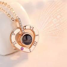 Кулон для влюбленных со световой проекцией DecoMir Сердце I ...