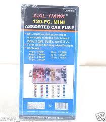 FUSE SET <b>120 PC MINI ASSORTED</b> FUSE SET , cars , trucks , suv ...