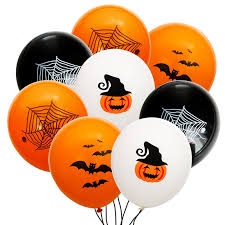 50/100pcs <b>Halloween Balloons</b> Latex Bat Pumpkin Spider Balloons ...
