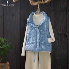 <b>PinkyIsBlack 2020</b> New Stand Collar Short Vest <b>Women</b> Winter ...