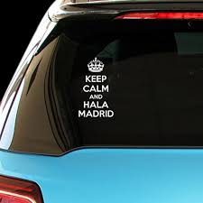 <b>KEEP CALM AND HALA</b> MADRID Car Laptop Wal- Buy Online in ...