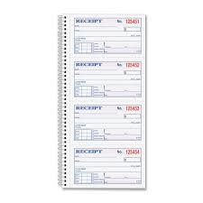 tops money rent receipt book com