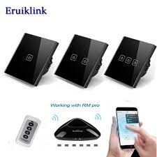<b>EU</b>/<b>UK Standard</b> Eruiklink 1/2/3 Gang <b>Wireless Remote</b> Control ...