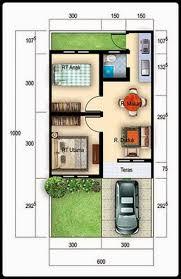 desain denah rumah tipe 36: Contoh gambar desain rumah minimalis type 36 terbaru rumah