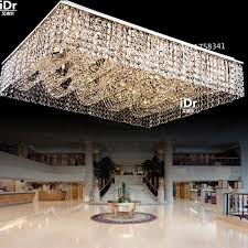 contemporary rectangular flush mounted ceiling crystal chandeliers in the lobby of a large modern chandelier light cheap chandelier lighting