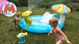 <b>INTEX Детский Бассейн</b> с Горкой и фонтаном крокодильчик ...