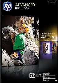 Фотобумага <b>HP Q8692A</b> глянцевая, 10 х 15 см, 250 г/м2, 100 листов