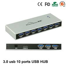 <b>High Quality</b> Aluminum Case <b>High</b> Speed 5Gbps <b>10 Ports</b> USB 3.0 ...