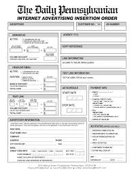 advertising advertising order form template advertising order form template pictures