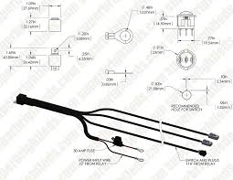 led light wiring harness with relay and weatherproof switch dual on simple 12v led wiring diagram