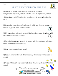 Multiplication Word Problem Area 2nd Grademultiplication word problems 2nd grade 2 3b