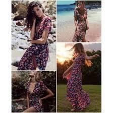Shop <b>Women Sexy</b> Floral Rose Bohemian Boho <b>Long Maxi</b> Dress ...