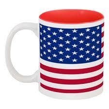 <b>Кружка цветная внутри</b> Американский Флаг #2408888 в Москве ...