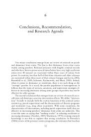 conclusions recommendation and research agenda parole page 72