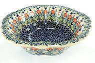 "Bowls - 11"" <b>Retro Bowl</b> - Blue Water Polish Pottery"