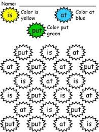 Coloring worksheets, Sight words and Worksheets on PinterestSight Word Coloring Worksheet Package... Laminate and color with vis-a-