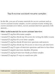 cover letter escrow assistant resume escrow assistant resume cover letter clinical assistant resume research pdf clinicalescrow assistant resume extra medium size