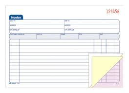 invoice book 3 part carbonless 50 st bk