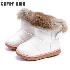 <b>Winter Warm</b> Plush Baby Girls <b>Snow Boots Shoes Pu</b> Leather Flat ...