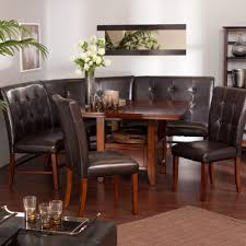 Fitted Dining Room Furniture Wonderful Built In Kitchen Banquette Designs Brown Leather Kitchen