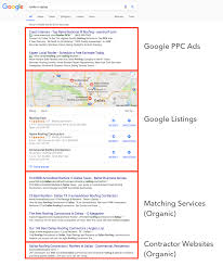 digital marketing guide for contractors roofer in dallas google search notes