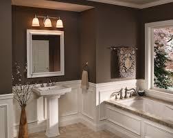 bathroom marvelous brown accents wall painted for bathroom ideas with elegant vanity plus awesome wall beautiful bathroom vanity lighting design ideas