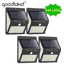 <b>Goodland 144 100 LED</b> Solar Light Outdoor Solar Lamp PIR Motion ...