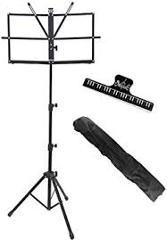 Duramex (TM) Compact & <b>Portable</b> Music Stand with <b>carrying bag</b> ...
