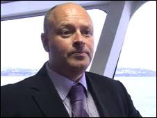 Mark Woodward chief executive of Isle of Man Steam Packet company. Mr Woodward said the future of the Snaefell craft remained under review - _45838083_090527-mark-woodward-ceo-02