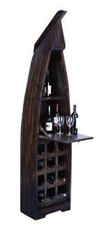 Extravagant <b>Wooden Boat</b> Wine <b>Cabinet</b> with Multiple Sections ...