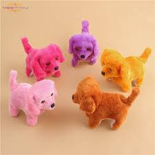 <b>Cute Walking Barking Toy</b> Funny Electric Short Floss Electric Moving ...