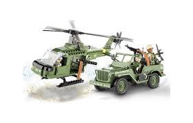 <b>Конструктор COBI</b> Джип и вертолет <b>Jeep</b> Willys and Helicopter