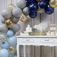 PartyWoo Navy <b>Blue</b> and Gold Balloons, <b>50 pcs 12 inch</b> Navy <b>Blue</b> ...