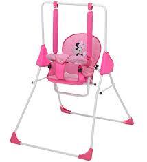 <b>Качели Polini kids Disney</b> baby Минни Маус с вышивкой розовый ...