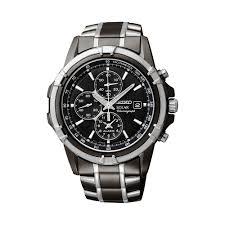 mens seiko watches watches kohl s seiko men s two tone stainless steel solar chronograph watch ssc143