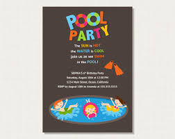 pool party invitation wording com pool party invitation wording for a new style invitatios card by adjusting a very charming invitation templates printable 4
