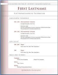 Free Microsoft Word Resume Templates for Download Sample Resume Format Template Download