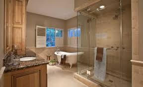 spa bathroom showers:  master bathroom with a spacious steam shower area