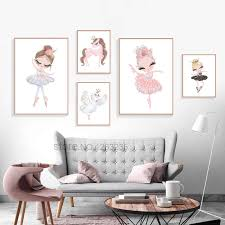 Nordic Babykamer Poster Cute Baby Girl Room <b>Decor Cuadros</b> ...