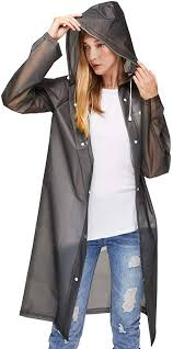 Waterproof Poncho Adult Clear Reusable Raincoat <b>Portable</b> ...