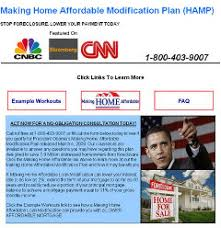 Scams promise fake     Obama plan     loan modifications   NY Daily NewsLoan modification scams  like the one above  use official logos to lure customers into