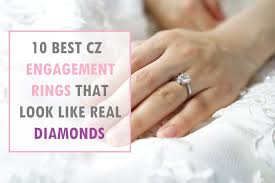 10 Best Cubic Zirconia Engagement Rings That Look Real | Fashion ...