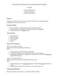 sample resume objective statements administrative assistant make cover letter office resume objective business assistant chronological resume sample administrative assistant