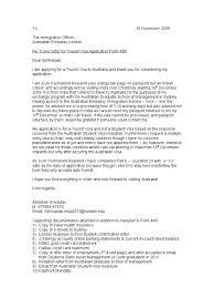 aussie visa cover letter