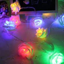 Pop 1.2M 10 <b>LED</b> Lights Decoration <b>Rose</b> Flower Fairy <b>String</b> Lights ...