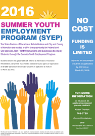 summer youth employment program syep honolulu hawaii no cost