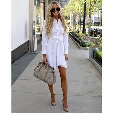 <b>Women Vintage Sashes Button</b> Elegant Party Dress Long Sleeve ...