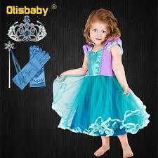 Summer <b>Baby Girl Princess Ariel</b> Dress Infant Rapunzel Purple Tutu ...